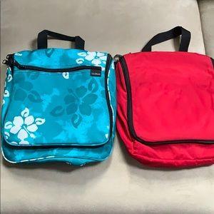 2 LL Bean Travel Toiletry Bags Medium Size